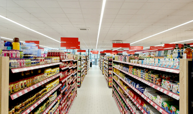 Double T5 Led Integrated Led Light is great solution for supermarket lighting