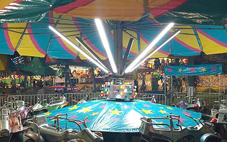 USA Amusement Park Project with Lonyung IP66 Waterproof Tri-proof Light